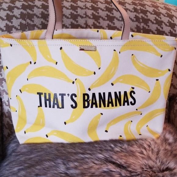 kate spade Handbags - Kate Spade New York That's Bananas Canvas Tote Bag